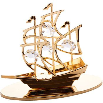 CRYSTOCRAFT Figurine SAILBOAT
