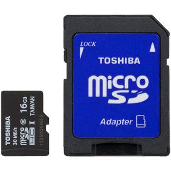 Toshiba microSDHC Class 4 Memory Card, 16GB
