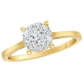 Pure Gold Illusion Ring