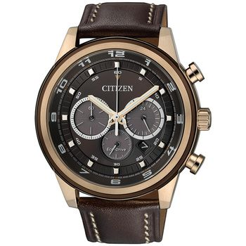 Citizen SPORTS Eco-Drive Gents Chronograph, IP-Rose Gold