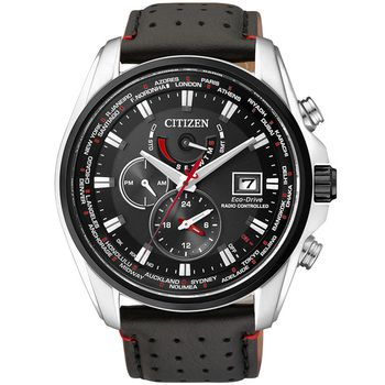 Citizen World Time A-T Gents Watch with Leather Strap