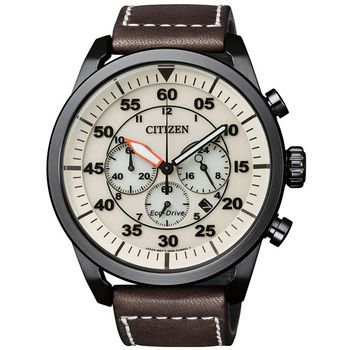 Citizen AVION Eco-Drive Gents Chronograph, IP-Black