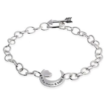Mia's Heart & Moon Love Bracelet
