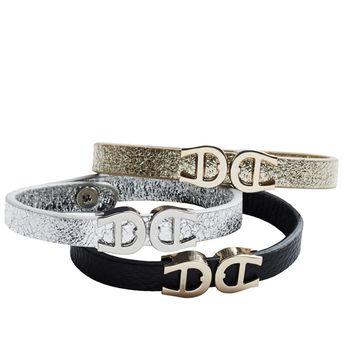 Aigner 3-Piece Leather Bracelet Set