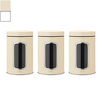 Brabantia Window Canister Set 3pcs