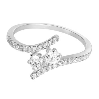 Pure Gold 18K 6 Prong 2cts Diamond Ring