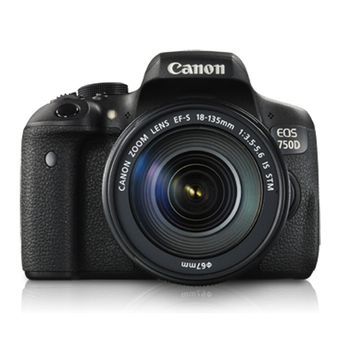 Canon EOS 750D DSLR Camera 18-135 IS STM Lens Kit