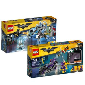 Lego BATMAN Set: Mr. Freeze and Catwoman Catcycle Chase