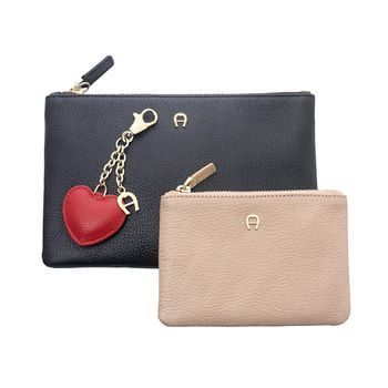 Aigner Duo Pouch Set with Key Ring