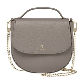 Aigner Leather Saddle Bag
