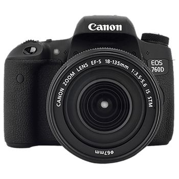 Canon EOS 760D DSLR Camera with EF-S 18-135mm IS STM Lens Kit