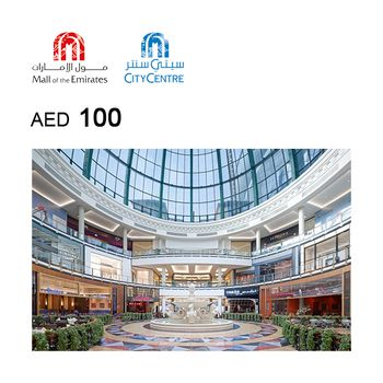 Mall of the Emirates & City Centre eGift Card AED100