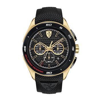 Scuderia Ferrari GRAN PREMIO Gents Chronograph - Black/Gold