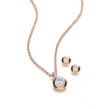 Buckley London Pixie Gold Pendant and Earring Set