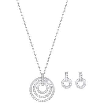 Swarovski CIRCLE Necklace & Earrings Set