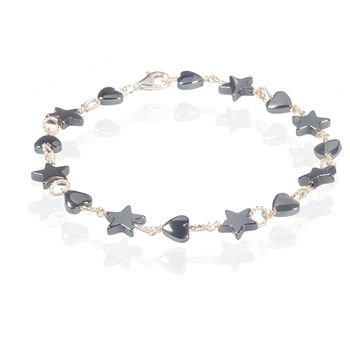 Anne Kaas CIRCLE Star & Heart Bracelet