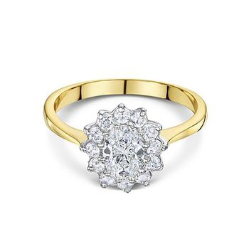 Buckley London Two-Tone Flower Ring