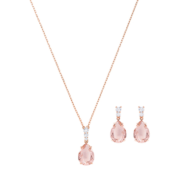 Swarovski VINTAGE Pear Necklace & Earrings Set