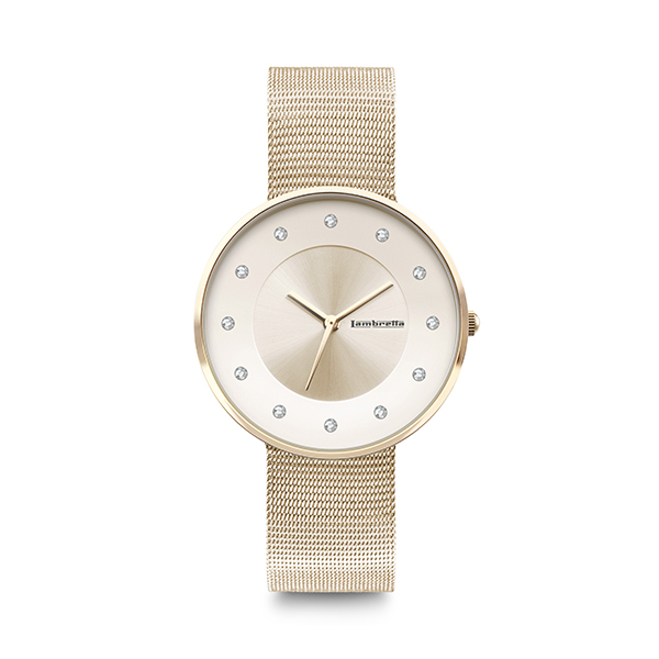 Lambretta CIELO 34 Ladies Watch with Mesh Strap - Gold Image