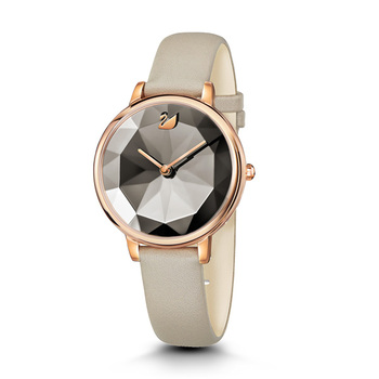 Swarovski CRYSTAL LAKE Ladies Watch with Leather Strap