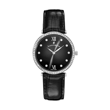 Jacques du Manoir COCKTAIL Silver Ladies Watch with Leather Band