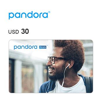 Pandora e-Gift Card $30