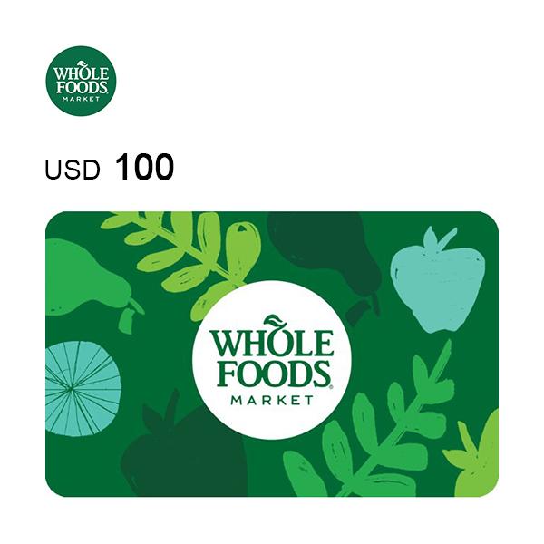 Whole Foods e-Gift Card $100 Image