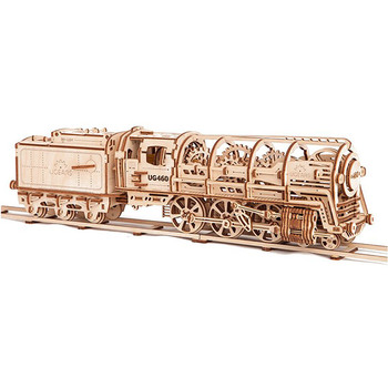 Ugears Steam Locomotive with Tender 3D Wooden Puzzle 443pcs