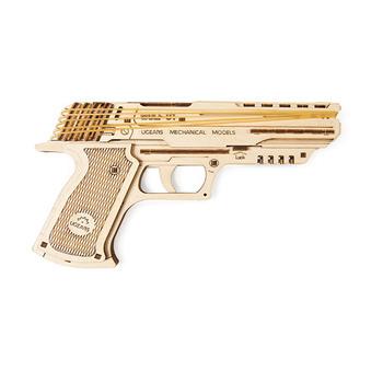 Ugears WOLF-01 Handgun 3D Wooden Puzzle 62pcs
