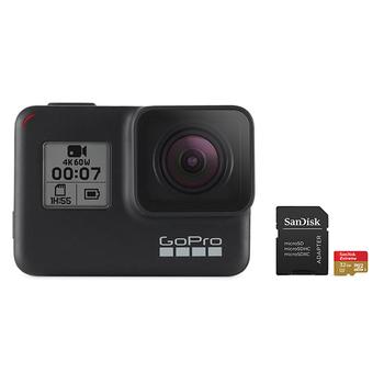GoPro HERO 7 Camera (Black) with SanDisk microSD Card 32GB