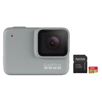 GoPro HERO 7 Camera (White) with SanDisk microSD Card 32GB