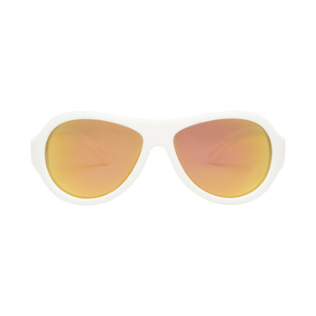 Babiators WICKED WHITE Polarized Aviator Classic Sunglasses